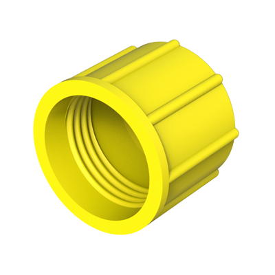 Threaded cap for Metric, BSP/GAS, UNC and UNF threads