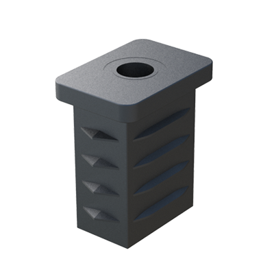 Rectangular tube insert with hole