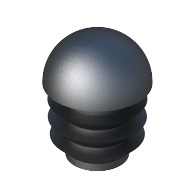 Our ribbed tube insert has been designed with a dome head or mushroom head for round tubes.
