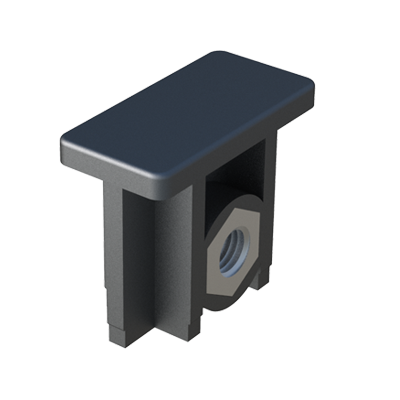 Our insert for rectangular traverse ends has been designed for mounting adjustable feet. The part is supplied without metal nuts, but we can supply it with one nut DIN934. It is also available for oval tubes: LJEO