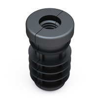 Round threaded tube insert