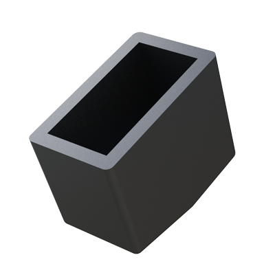 Rectangular semi-angled tube ferrule