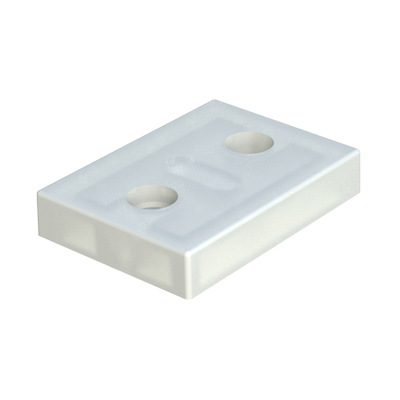 Rectangular flat stopper with screw holes
