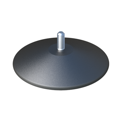 Round adjustable foot