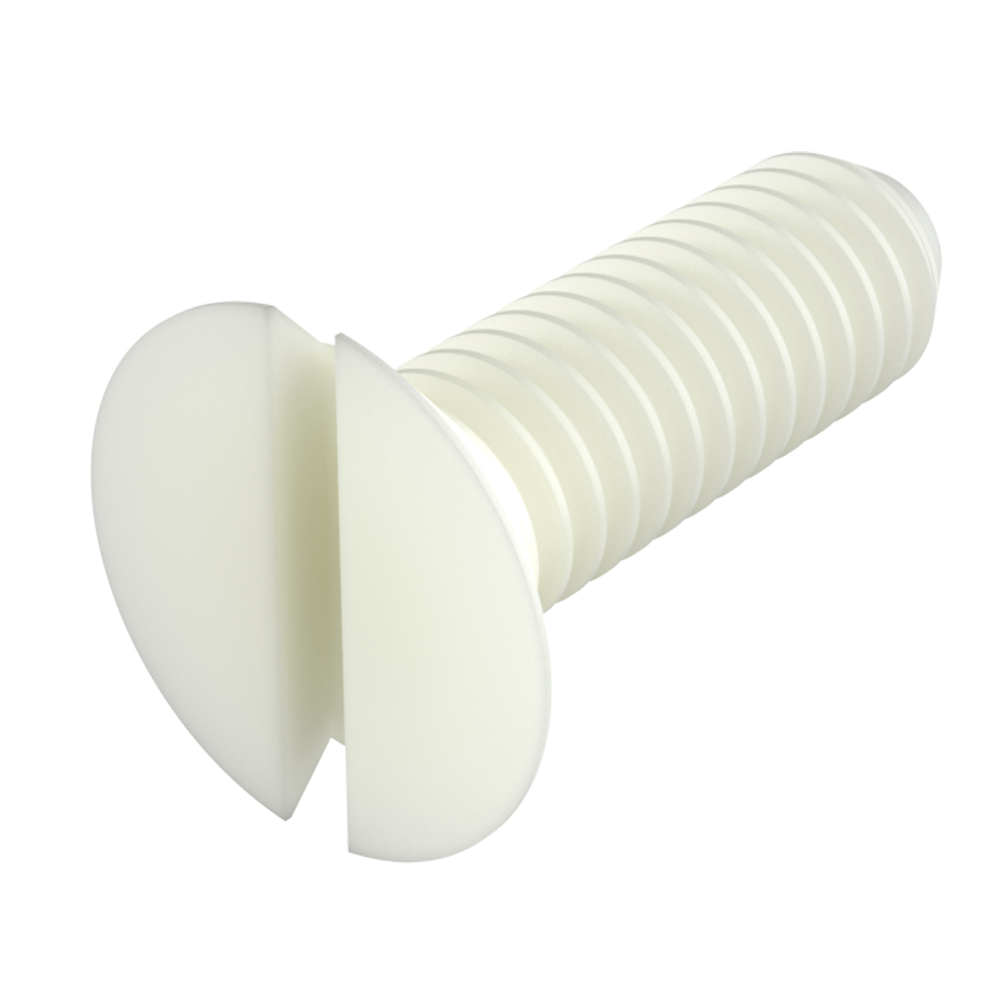 Flat slotted head screw