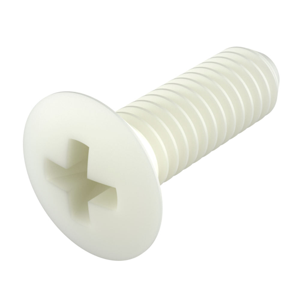 Oval phillips head screw