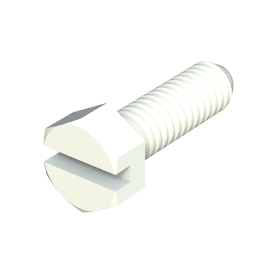 Hexagonal slotted head screw