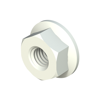 Hexagonal nut with flange