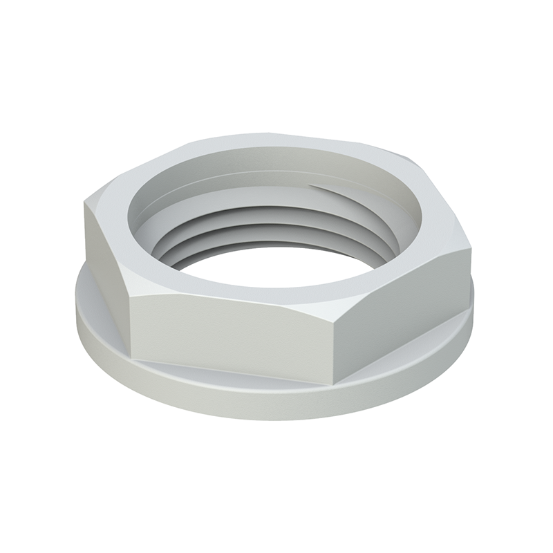 Metric locknut with flange
