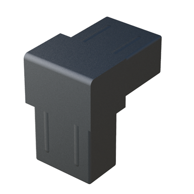 Elbow connector for rectangular tubes