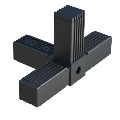 C connector for square tubes