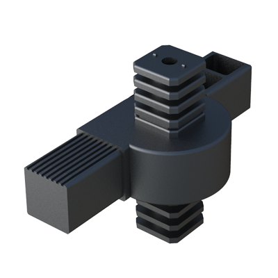 Hinge 4-way connector for square tubes