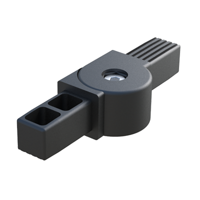 Hinge 2-way connector for square tubes