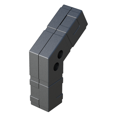 Angle connector for square tubes