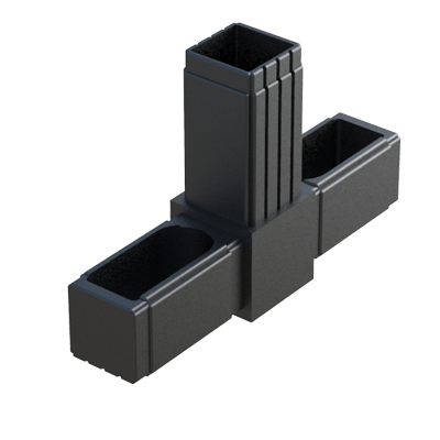 Tee connector for square tubes