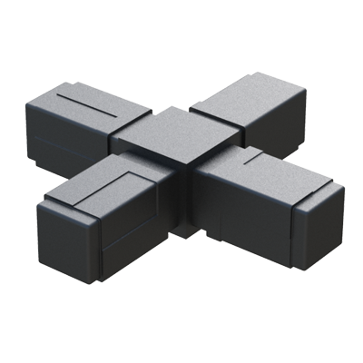 X connector for square tubes