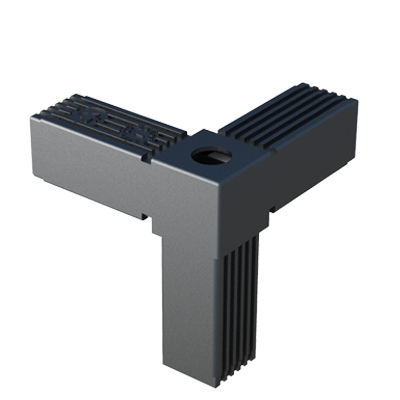Y connector for square tubes with thread